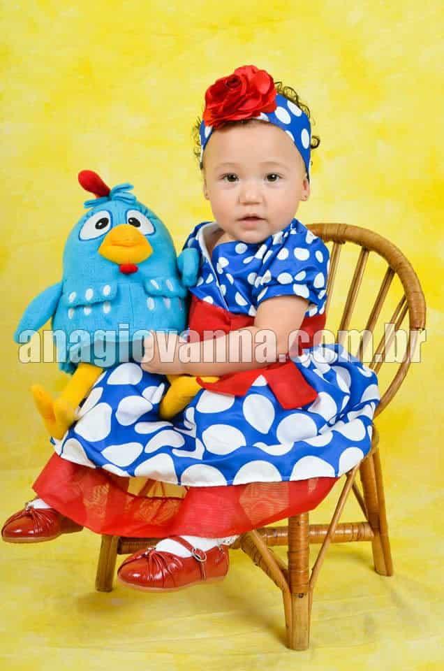 vestido galinha pintadinha para festa infantil Vestidos para bebê de 1 ano
