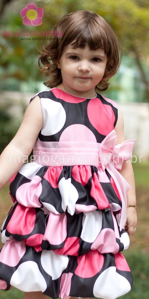 vestido para festa infantil minnie
