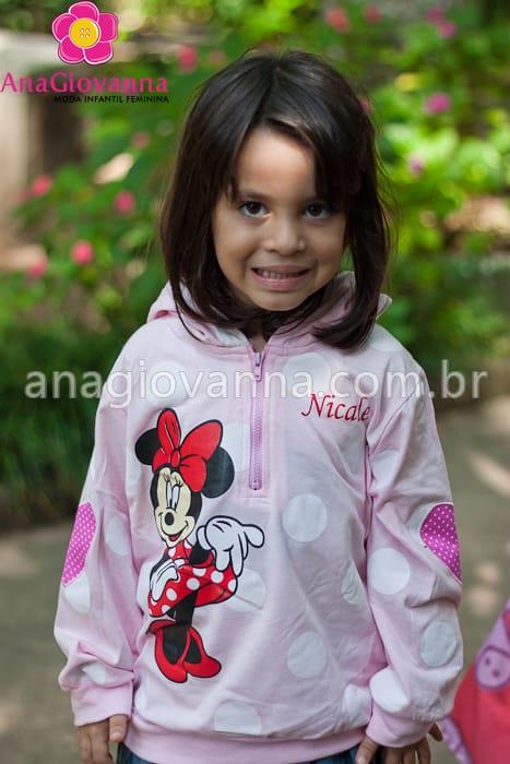 casaco rosa minnie