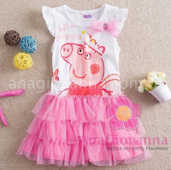vestido da peppa pig