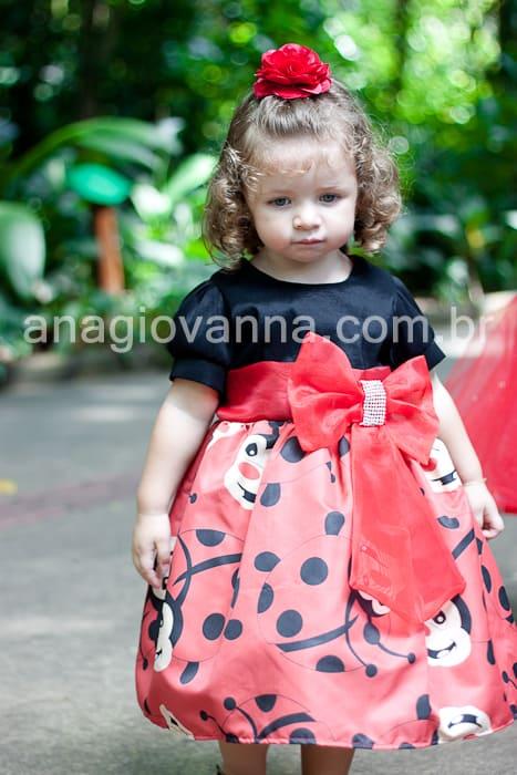 vestido de bebe joaninha