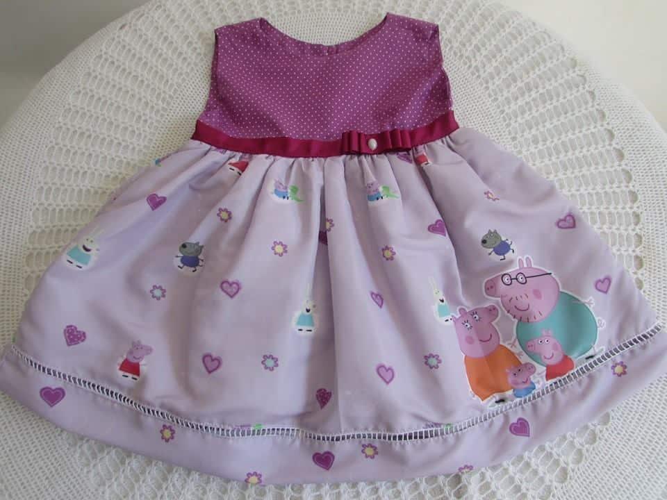 vestido da peppa pig para festa