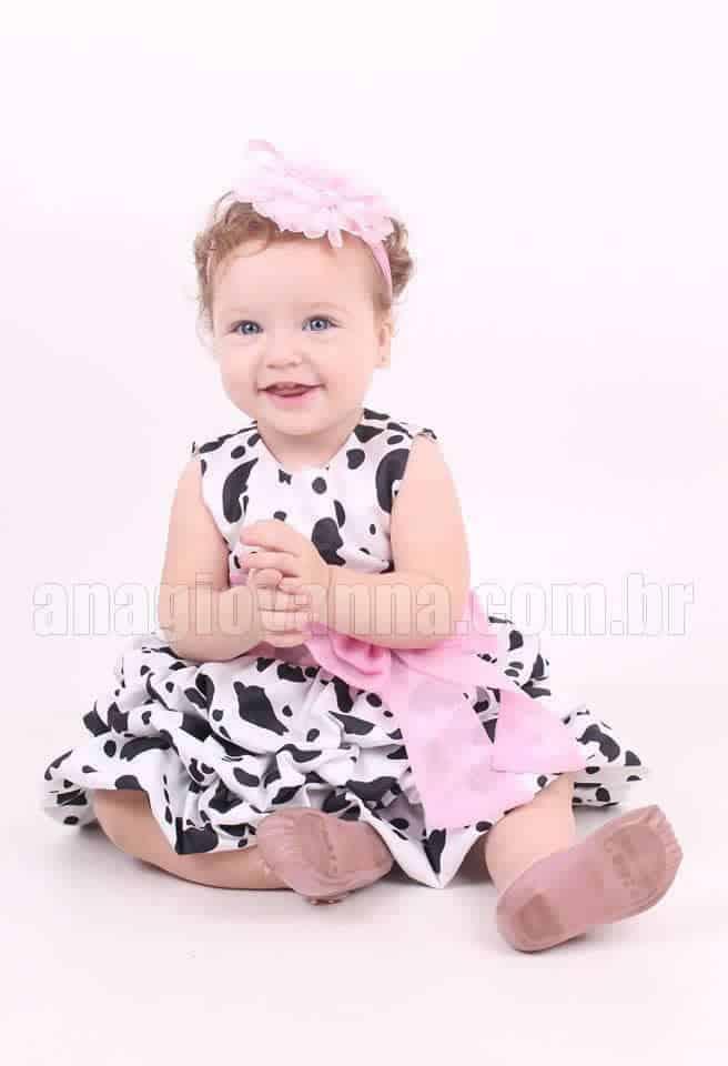 Vestido fazendinha baby
