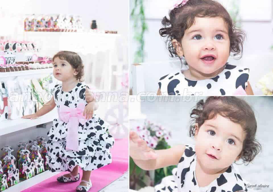 Vestido festa fazendinha baby