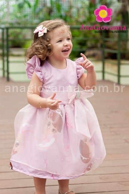 3ee34154a038b Vestido infantil bailarina com organza
