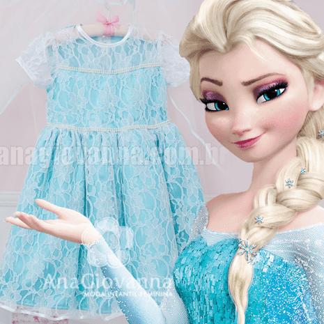 Vestido elsa princesa frozen