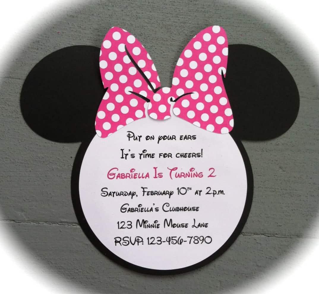 Free Minnie Mouse Invitations Templates as nice invitations design