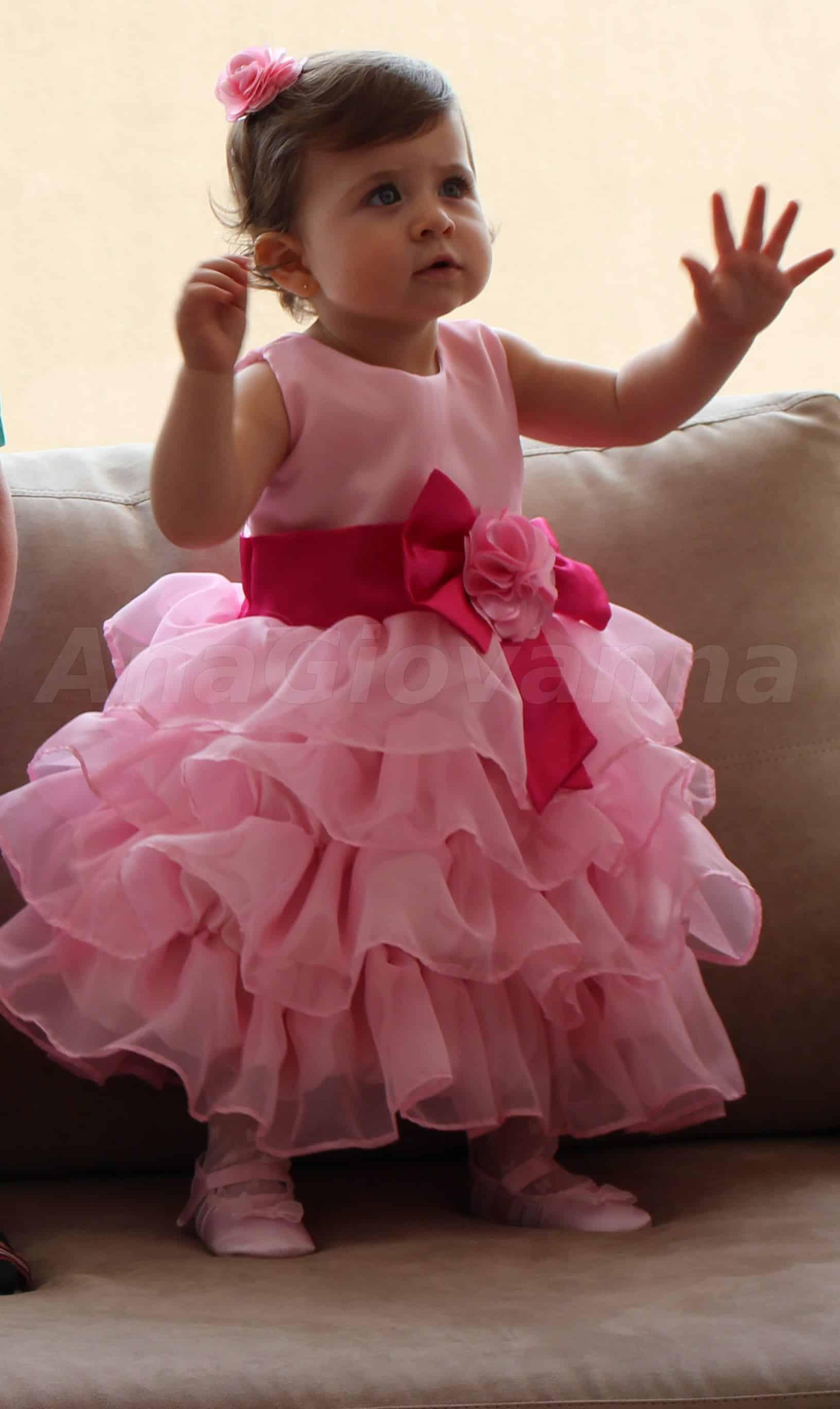 Vestido Minnie Rosa 1 ano 611x1024 Roupa Infantil para Aniversário de ...