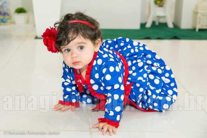 Vestido da Galinha Pintadinha com bolero