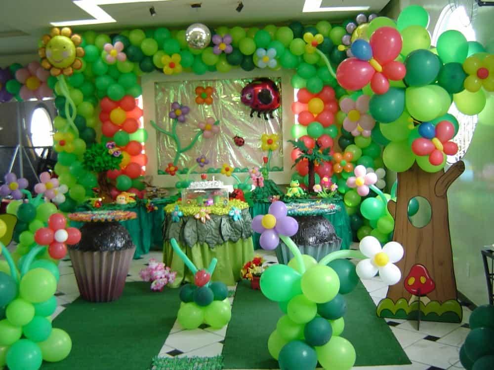 decoracao balões jardim encantado