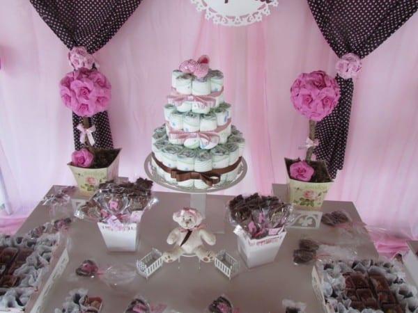 decoracao-cha-de-bebe-marrom-e-rosa