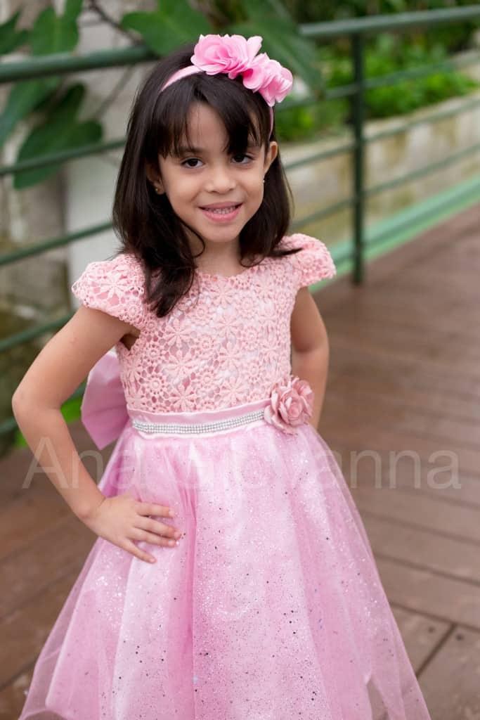 Vestido Infantil para Festa Princesa