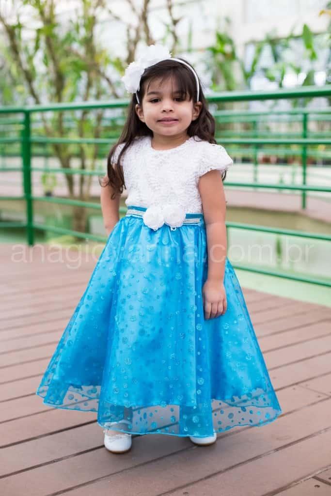Vestido Elsa Frozen para Festa Infantil