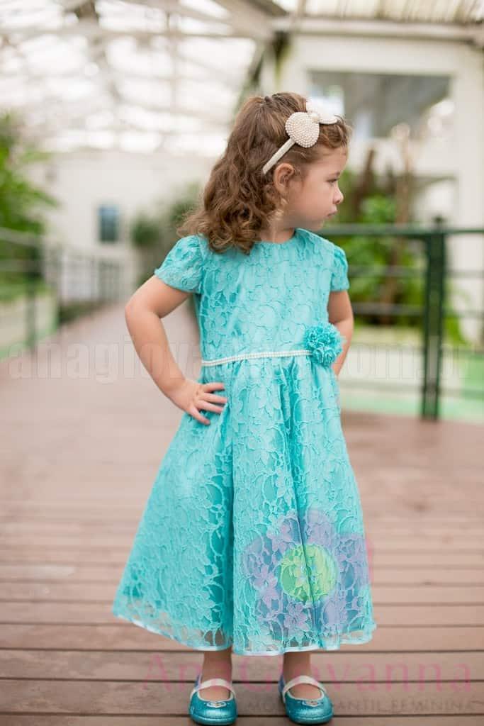 Vestido Princesa Frozen Ana Giovanna