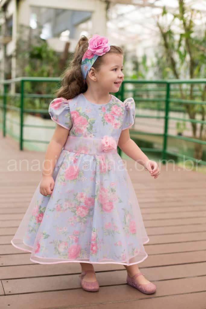 Vestido Princesa Infantil Floral