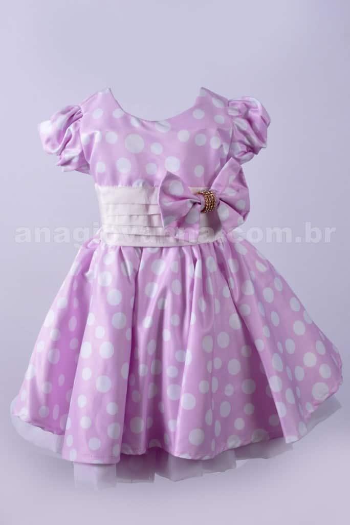 Vestido da Minnie rosa claro