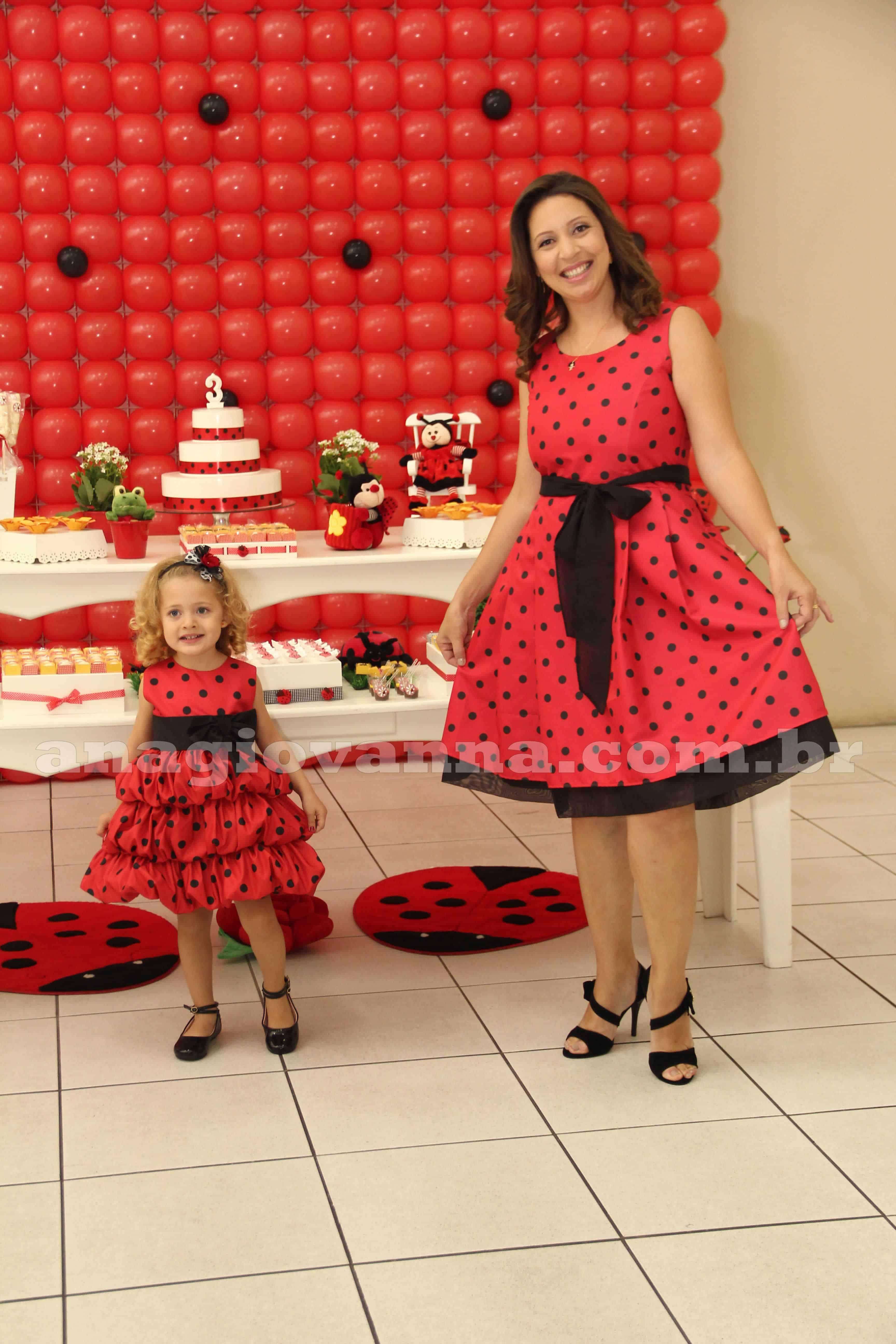 Vestido joaninha mae e filha