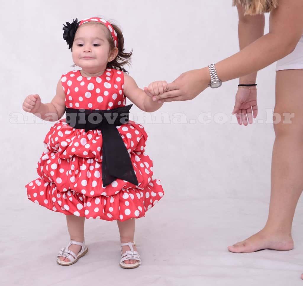 Vestido Minnie Vermelha Balonê