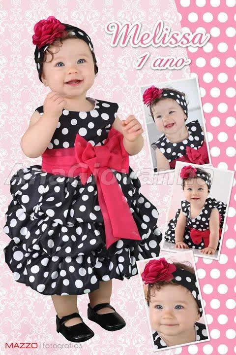 roupa da minnie para bebe de 1 ano