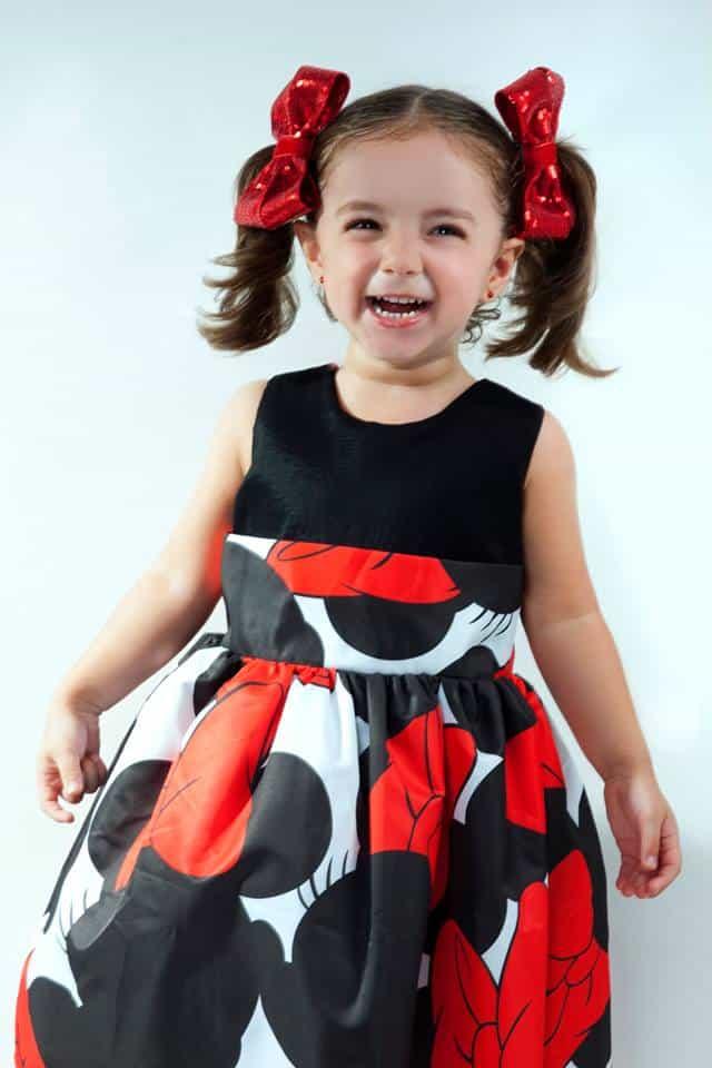 Vestido infantil da Minnie para festa de aniversário