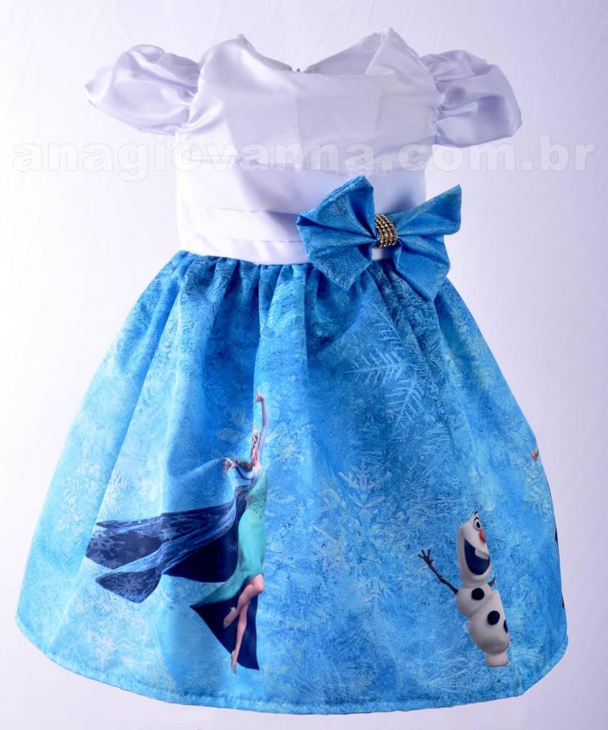 Vestido Frozen 853x1024 Vestidos de Festa Infantil Ana Giovanna