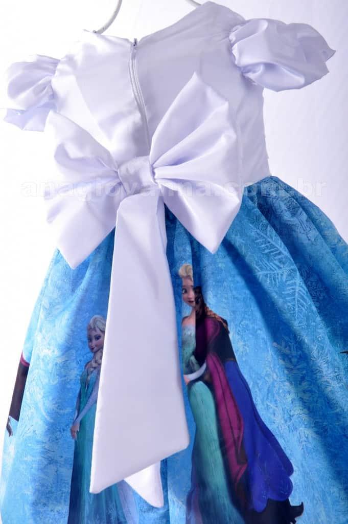 Vestido Frozen costas 681x1024 Vestidos de Festa Infantil Ana Giovanna