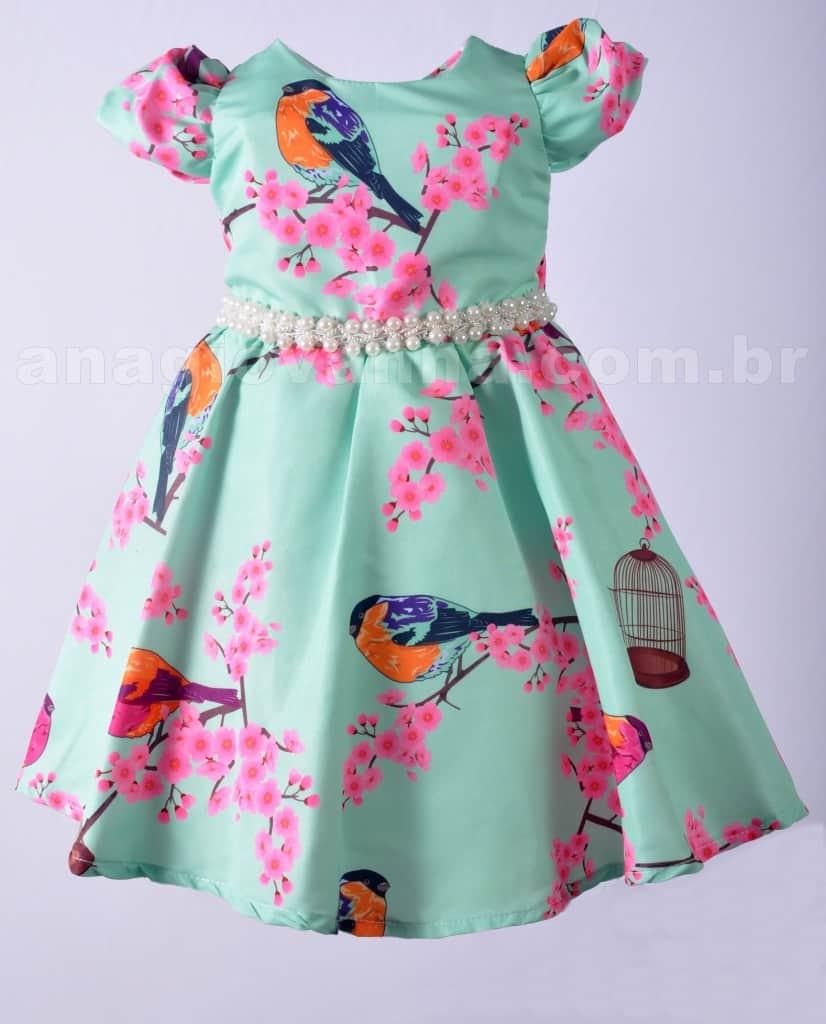 Vestido Passarinho frente 826x1024 Vestidos de Festa Infantil Ana Giovanna
