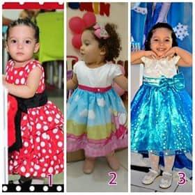0008 Elas vestem vestidos infantil de festa Ana Giovanna