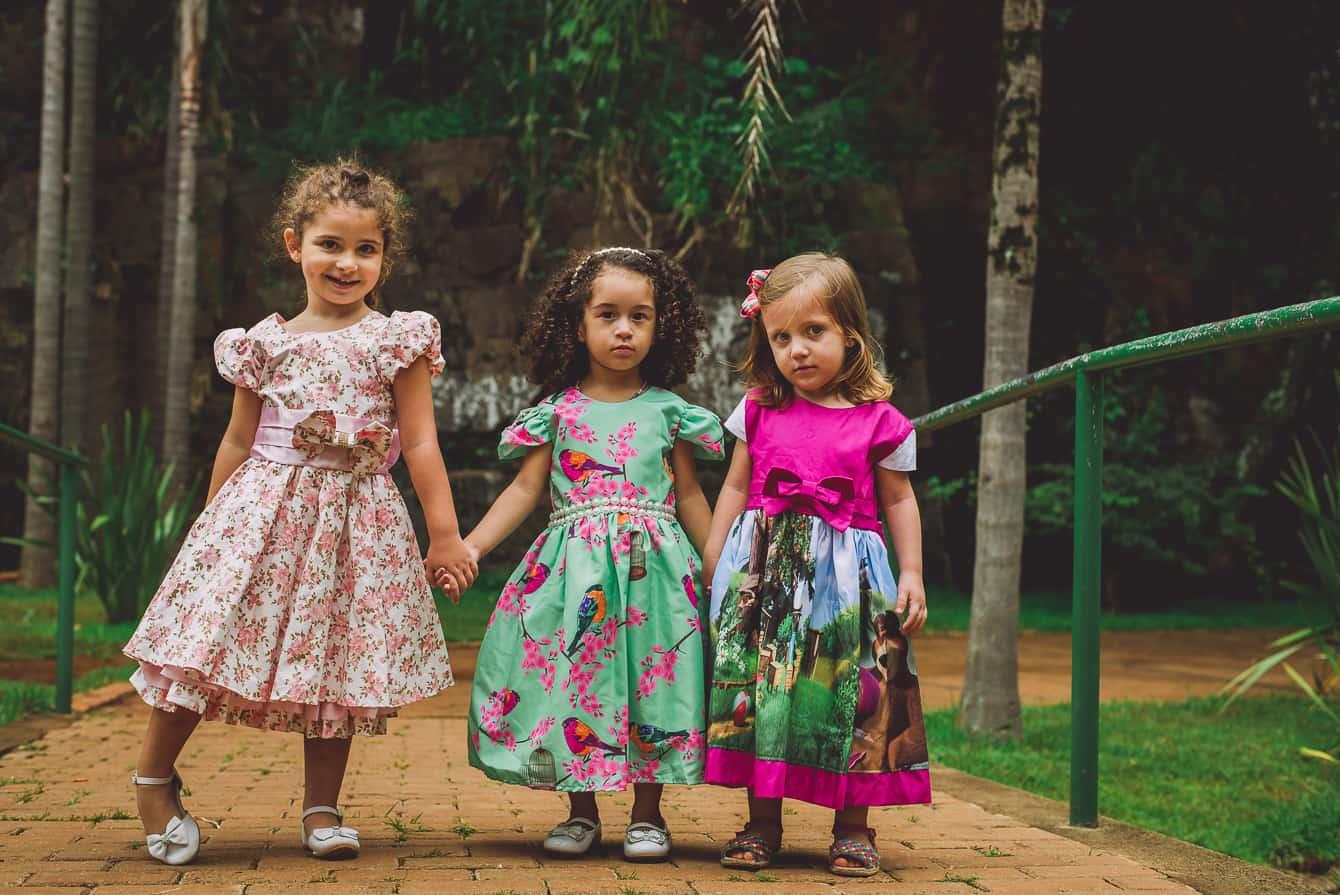 as 3 lindas 109 of 124 Elas vestem vestidos infantil de festa Ana Giovanna