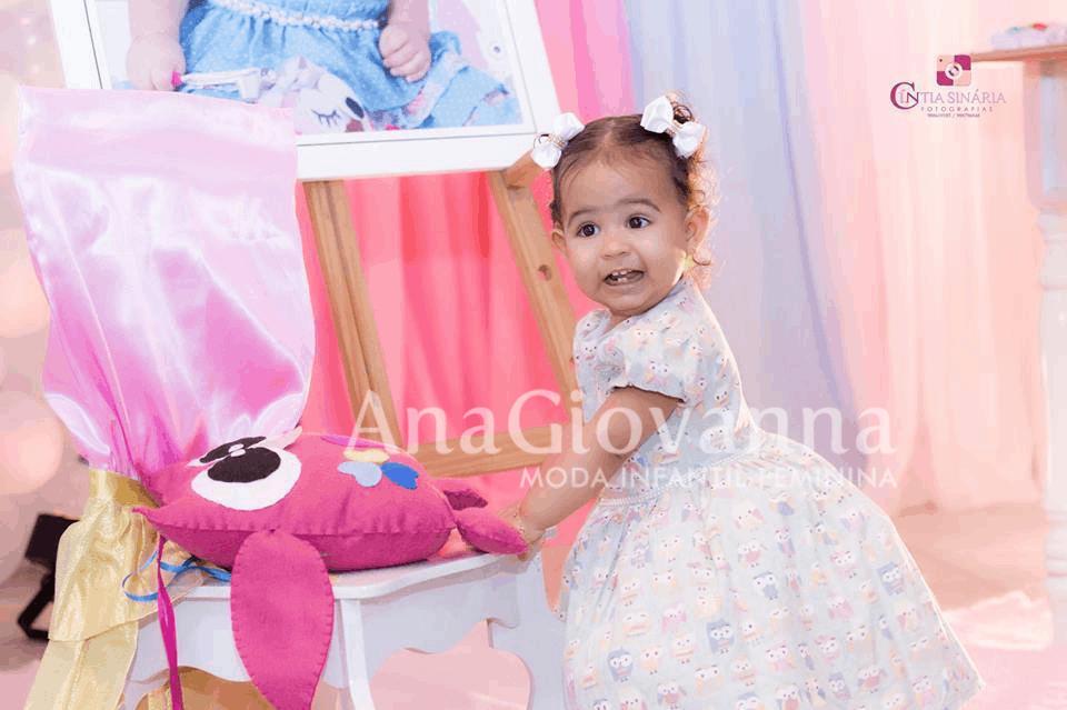 corujinha Elas vestem vestidos infantil de festa Ana Giovanna