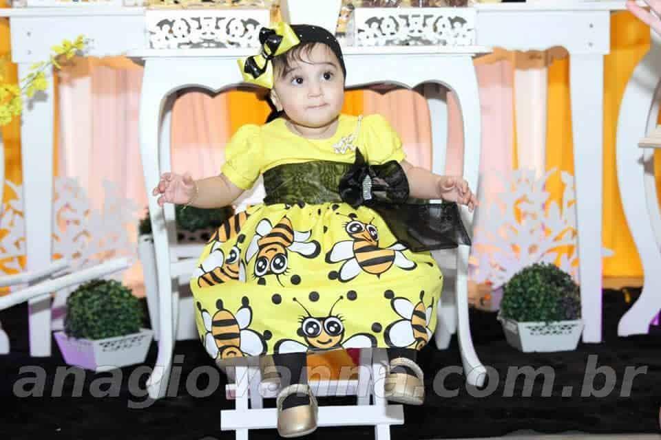 vestido abelhinha1 Elas vestem vestidos infantil de festa Ana Giovanna