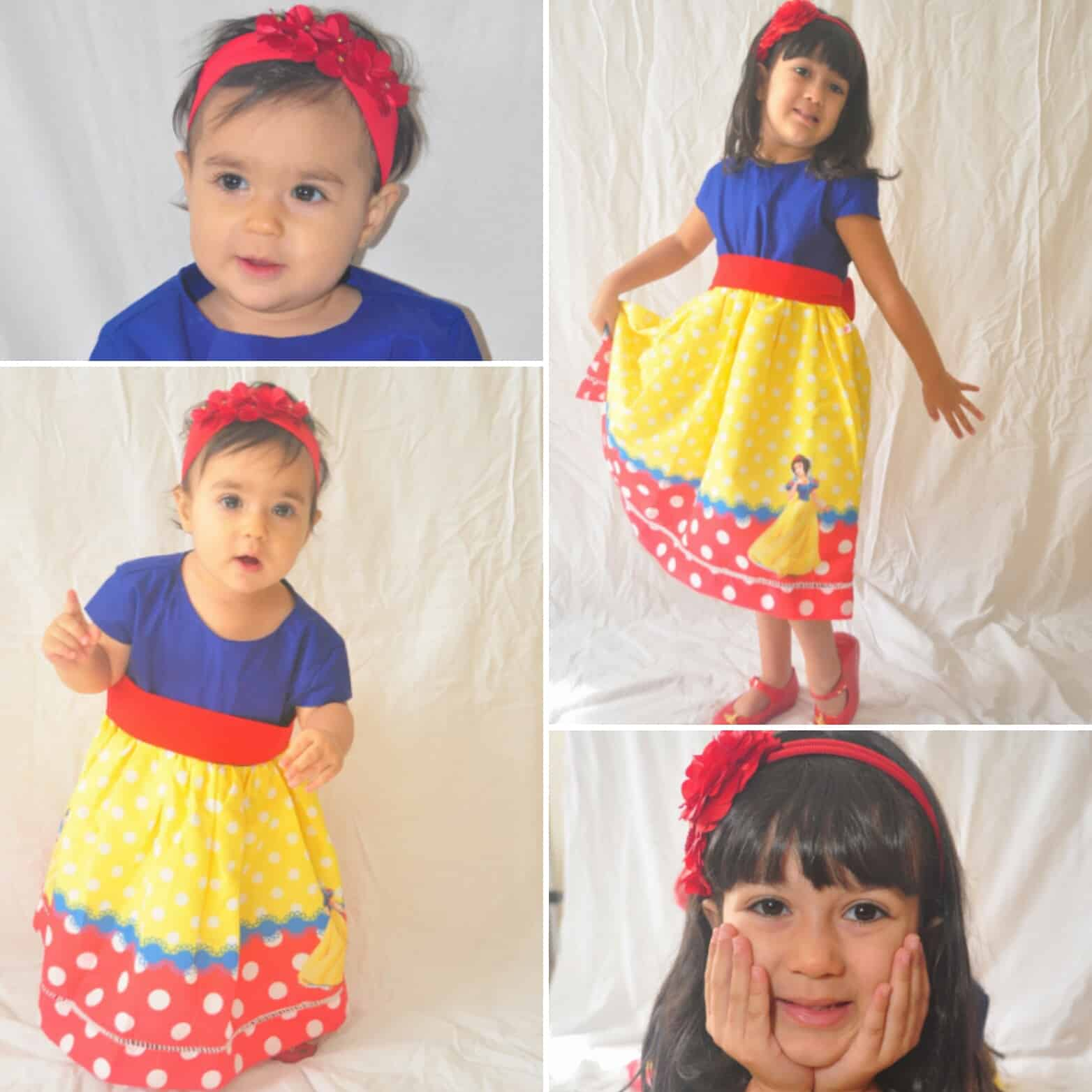 vestido branca de neves Elas vestem vestidos infantil de festa Ana Giovanna