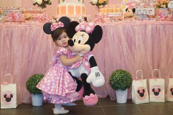 vestido da minnie baby rosa vestido minnie rosa infantil Elas vestem vestidos infantil de festa Ana Giovanna