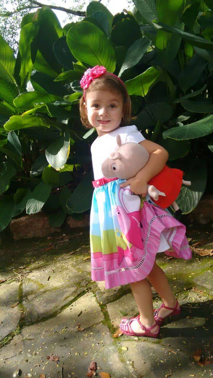vestido da peppa pig fada Elas vestem vestidos infantil de festa Ana Giovanna