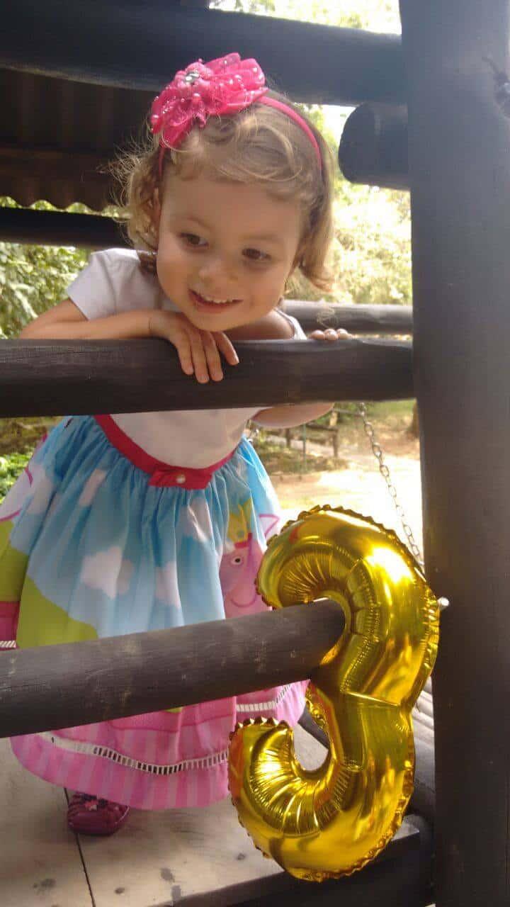 vestido de festa peppa Elas vestem vestidos infantil de festa Ana Giovanna