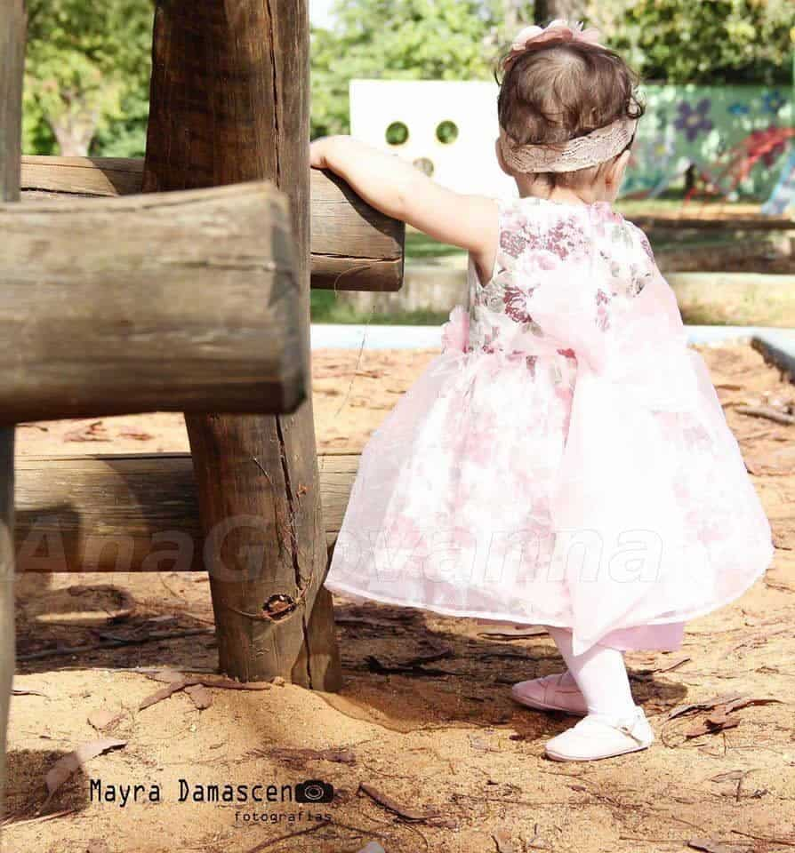 vestido floral rosa1 Elas vestem vestidos infantil de festa Ana Giovanna