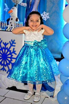 vestido frozen Elas vestem vestidos infantil de festa Ana Giovanna