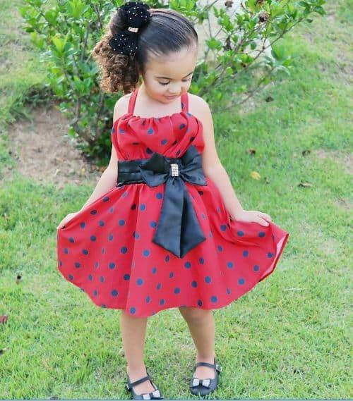 vestido joaninha babados Elas vestem vestidos infantil de festa Ana Giovanna