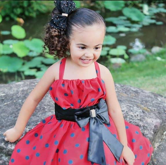 vestido joaninha Elas vestem vestidos infantil de festa Ana Giovanna
