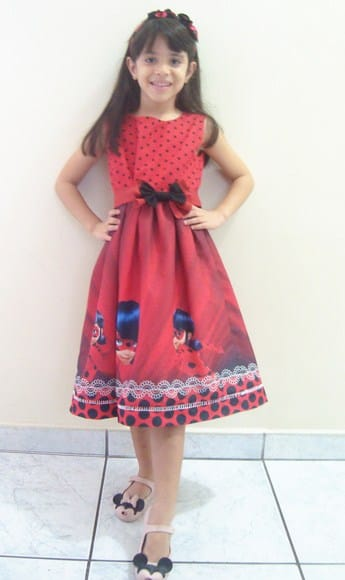 vestido lady bug vestido tema lady bug Elas vestem vestidos infantil de festa Ana Giovanna