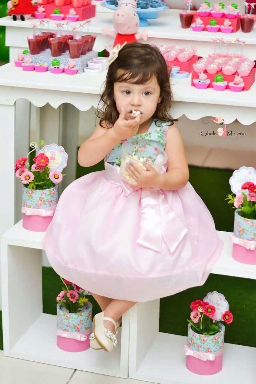 vestido mae e filha floral 1 Elas vestem vestidos infantil de festa Ana Giovanna