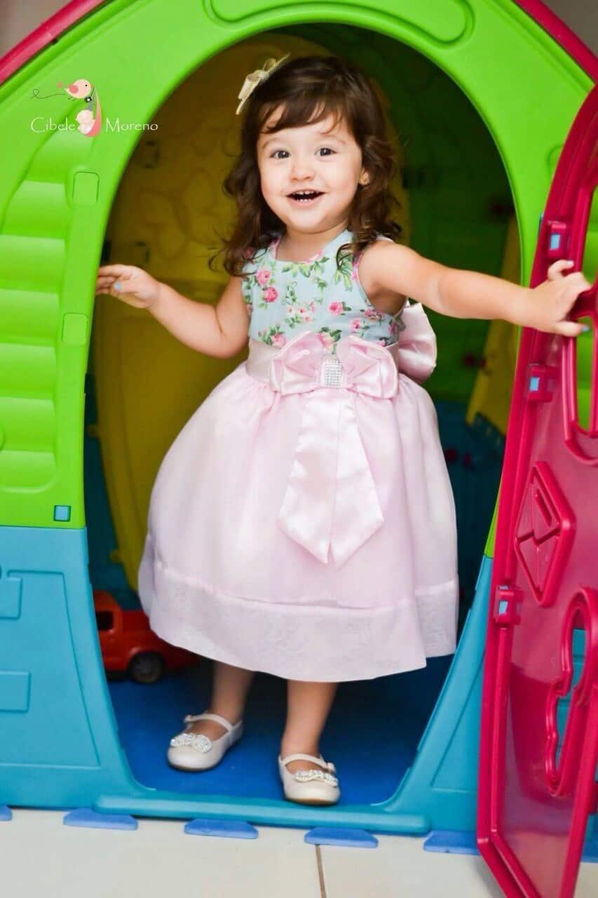 vestido mae e filha floral 2 Elas vestem vestidos infantil de festa Ana Giovanna