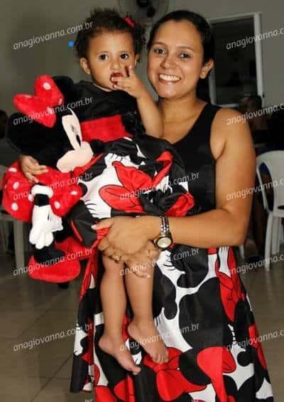 vestido mae e filha minnie vermelha 1 Elas vestem vestidos infantil de festa Ana Giovanna