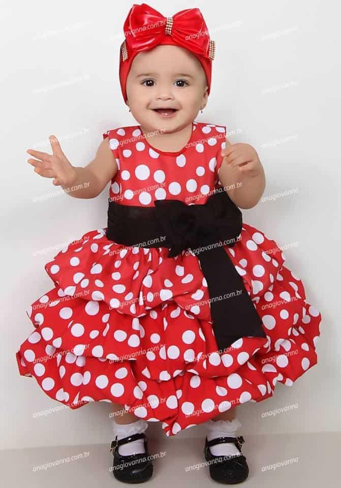 vestido minnie vermelha Elas vestem vestidos infantil de festa Ana Giovanna