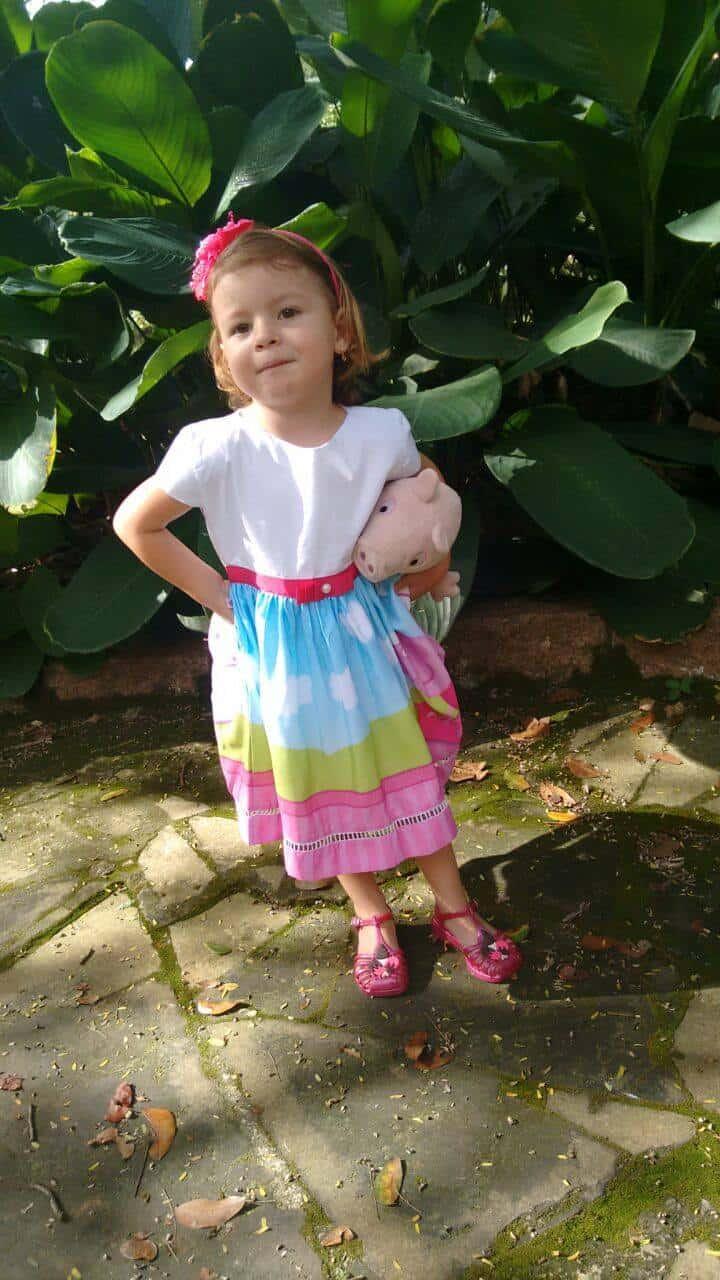 vestido peppa fada Elas vestem vestidos infantil de festa Ana Giovanna