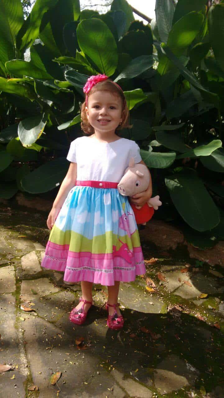 vestido peppa pigfada Elas vestem vestidos infantil de festa Ana Giovanna