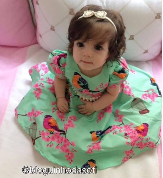 vestidos passaros Elas vestem vestidos infantil de festa Ana Giovanna