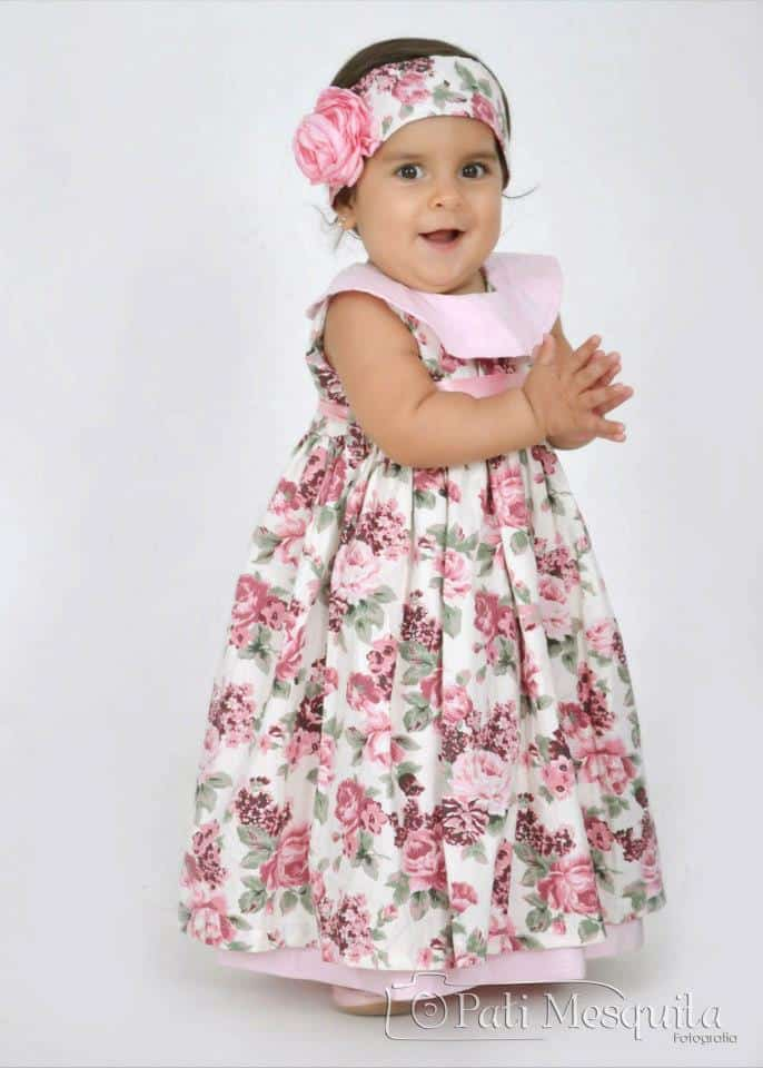Vestido de festa infantil de princesa