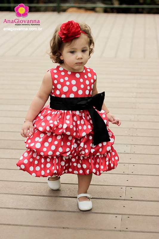 Vestido Festa Minnie Vermelha