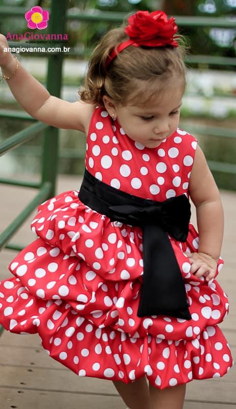 Vestido Minnie Vermelha Festa